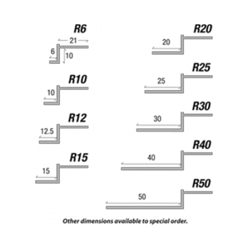 Type R Reveal Bead Shadow Gap Bead